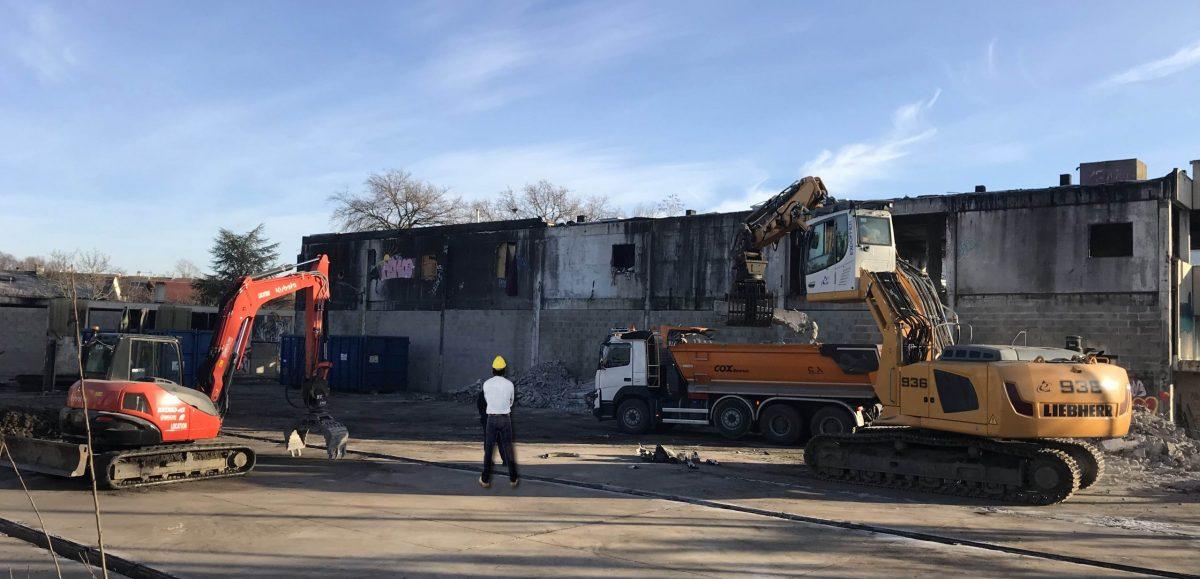batiment industrielle demolition